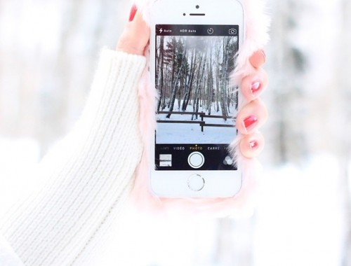 On se couvre et on file sous la neige ce dimanche ( même mon iPhone a sorti sa doudoune) ...